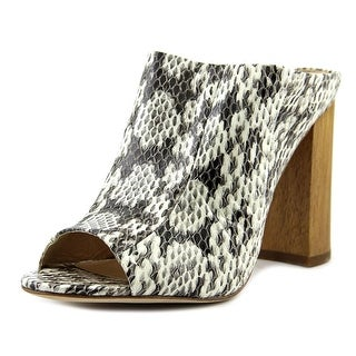 Vince Camuto Tad Peep-Toe Synthetic Mules