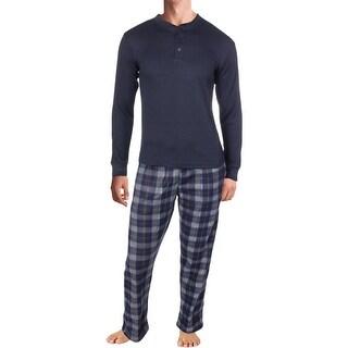 Sahara Club Mens Pajama Set Thermal Fleece