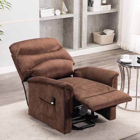 Fabric Power Reclining Chair - Theater Single Sofa Seating
