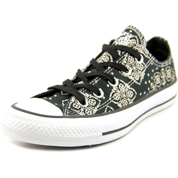 Converse Chuck Taylor All Star Print OX Women Round Toe Canvas Black Sneakers