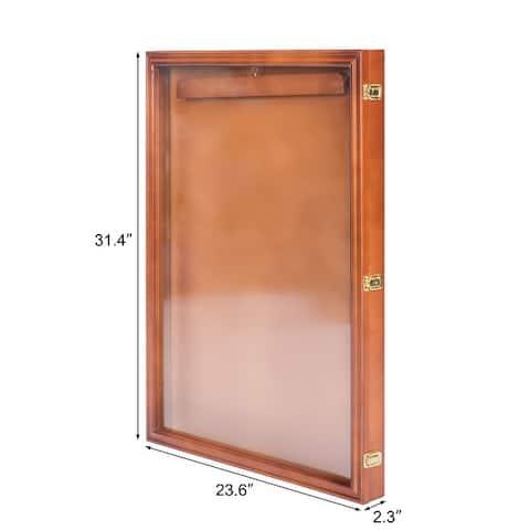 Kinbor Jersey Display Frame, Shadow Box Display Case w/ Acrylic Hanger & Lock for Baseball Basketball Football Soccer Hockey