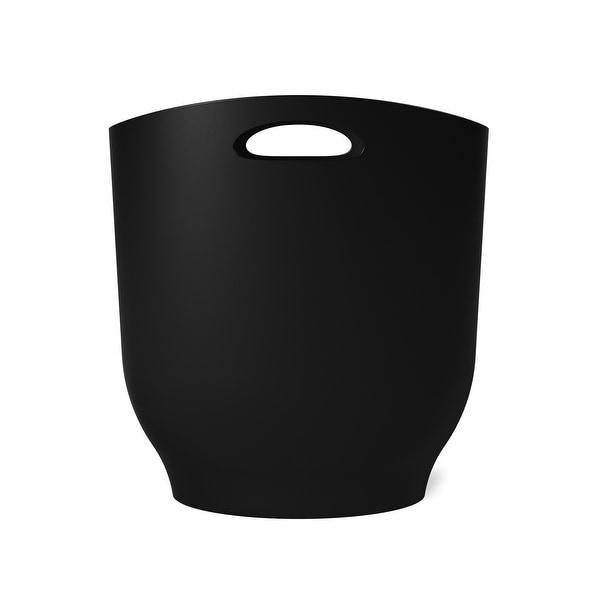 Umbra Harlo Trash Can, 2.4 Gallon (9L) Capacity, Black. Opens flyout.