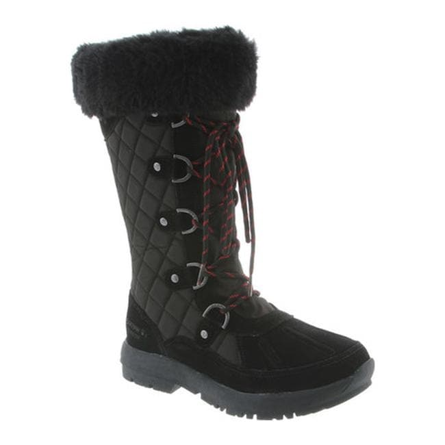 Bearpaw Women  x27 s Quinevere Lace-Up Boot Black II Waterproof Leather  84a438a1d