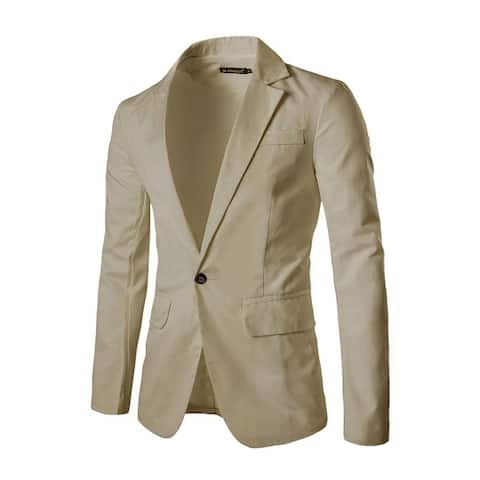 Men's Classic Notch Lapel Suiting Blazer