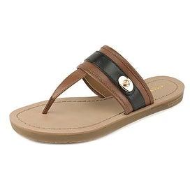 COACH Women's Eileen Leather Flip Flop Sandals