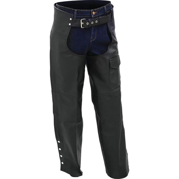 Rocky Mountain Hides Solid Genuine Buffalo Leather Motorcycle Chaps