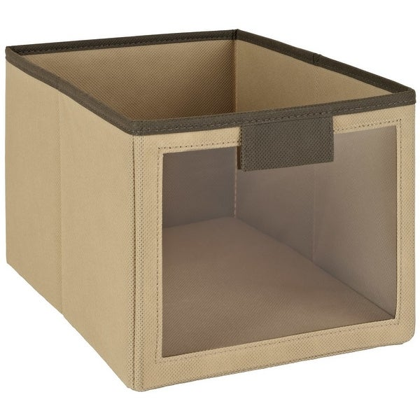 ClosetMaid 25065 Fabric Bin With Window, Mocha