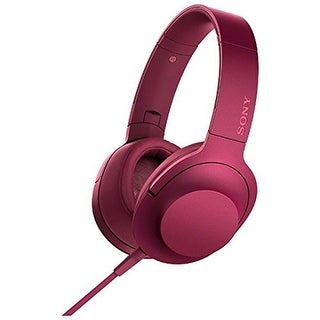 Sony MDR-100AAP h.ear on High-Resolution Stereo Headphones (Bordeaux Pink)