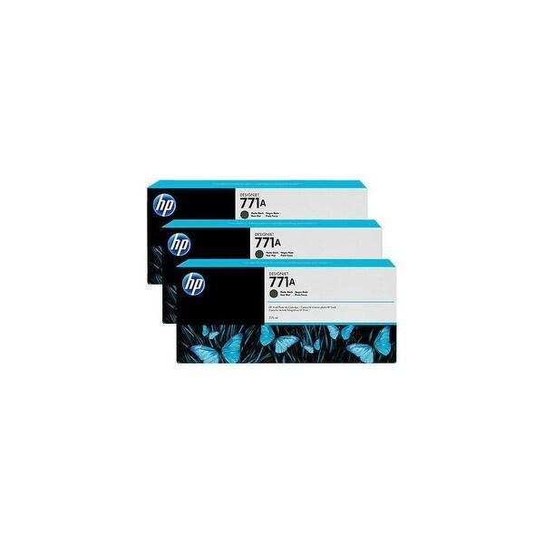 HP 771A 3-Cartridges 775-ml Matte Black DesignJet Ink Cartridges (B6Y39A) (Single Pack)