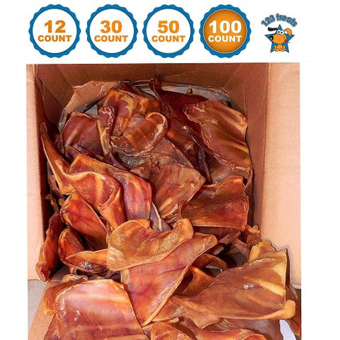 Pig Ears Dog Chews 100% Natural and irradiated Pork Ears mix sizes USDA and FDA Certified from 123 Treats