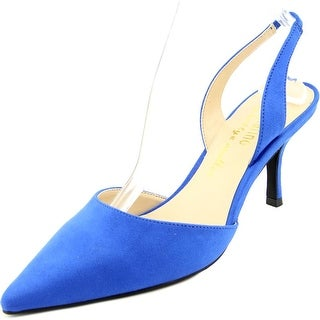 Ann Marino by Bettye Muller Adair Women Pointed Toe Canvas Blue Slingback Heel