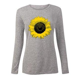 Sunflower, Large - Ladies Long Sleeve Tee