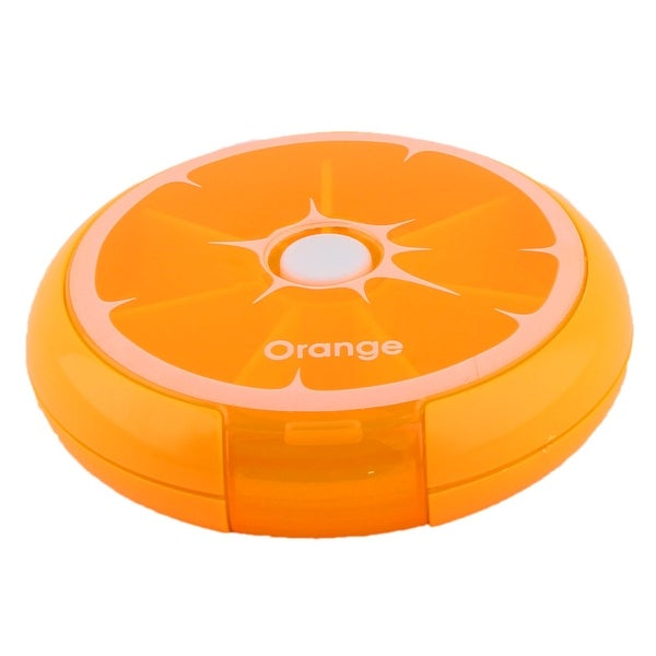 Household Travel Plastic Lemon Shaped Medicine Pill Box Case Container Orange