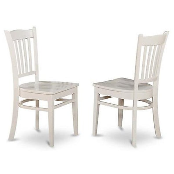 ac81f158ffb887 Shop Gronton Dining Chair with Wood Seat in Linen White Finish Pack of 2 -  Free Shipping Today - Overstock - 24875142