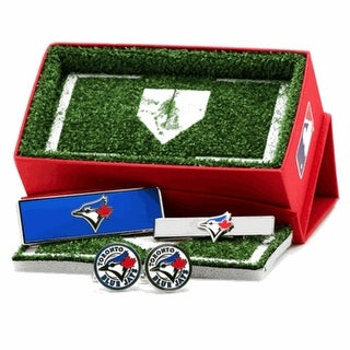 Toronto Blue Jays Cufflinks, Money Clip and Tie Bar Gift Set