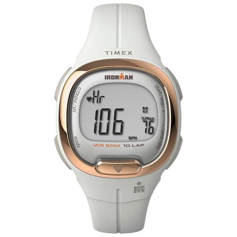 TIMEX IRONMAN Transit Watch with Activity Tracking & Heart Rate 33mm - White with Resin Strap - One Size