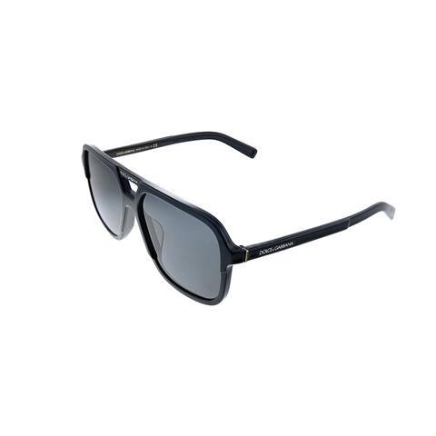 Dolce & Gabbana DG 4354F 501/87 58mm Unisex Black Frame Grey Lens Sunglasses