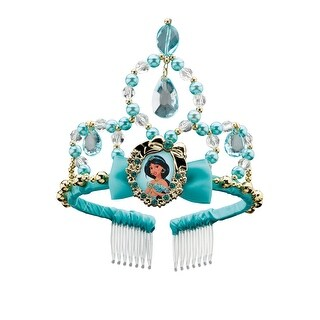 Disguise Jasmine Classic Child Tiara - Blue/Gold