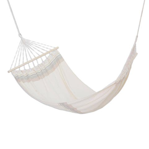 "Handmade Fresh Breeze Cotton hammock (single) El Salvador - 93"" L x 50"" W"