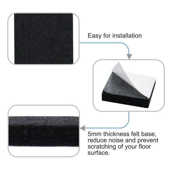 4 x Pin Type White Plastic Furniture Glide 22mm Diameter x 5 mm Thickness