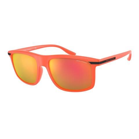 Armani Exchange AX4110S 83306Q 58 Matte Fluo Orange Man Pillow Sunglasses