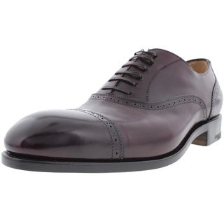 Salvatore Ferragamo Mens Siena Leather Brogue Cap Toe Oxfords - 8.5 medium (d)