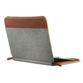 "SettonBrothers 13"" Laptop Sleeve, Padded interior + Exterior Pockets - Light Grey"