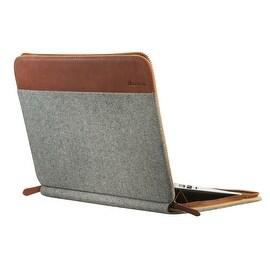 "SettonBrothers 13"" Laptop Sleeve, Padded interior + Exterior Pockets - Light Grey"