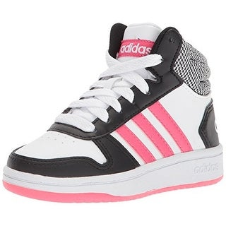 adidas Unisex-Kids Vs Hoops Mid 2.0 K, Core Black/Real Pink/White (More options available)