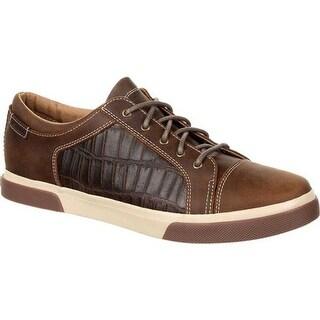 Durango Boot Men's DDB0155 Music City Gator Embossed Sneaker Brewhouse Brown Gator Emboss Full Grain Leather