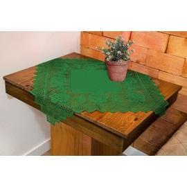 Table Topper Grega Design Brazilian Lace 29x29 Inches Green Color 100 Percent Polyester