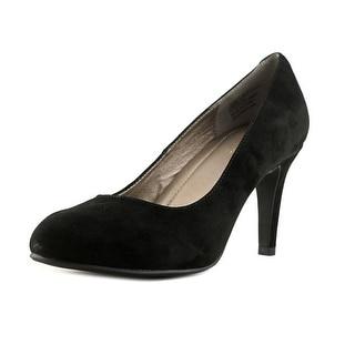 Easy Spirit Kaymile Women W Round Toe Suede Black Heels