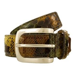 Renato Balestra Storeria KK Khaki Python Leather Womens Belt