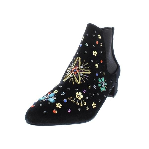 3de745adce0 Shop Betsey Johnson Womens Jax Booties Velvet Embellished - Free ...
