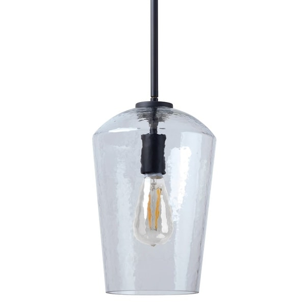 "Miseno MLIT158899 1 Light 9.25"" Wide Pendant with Hammered Glass Shade"