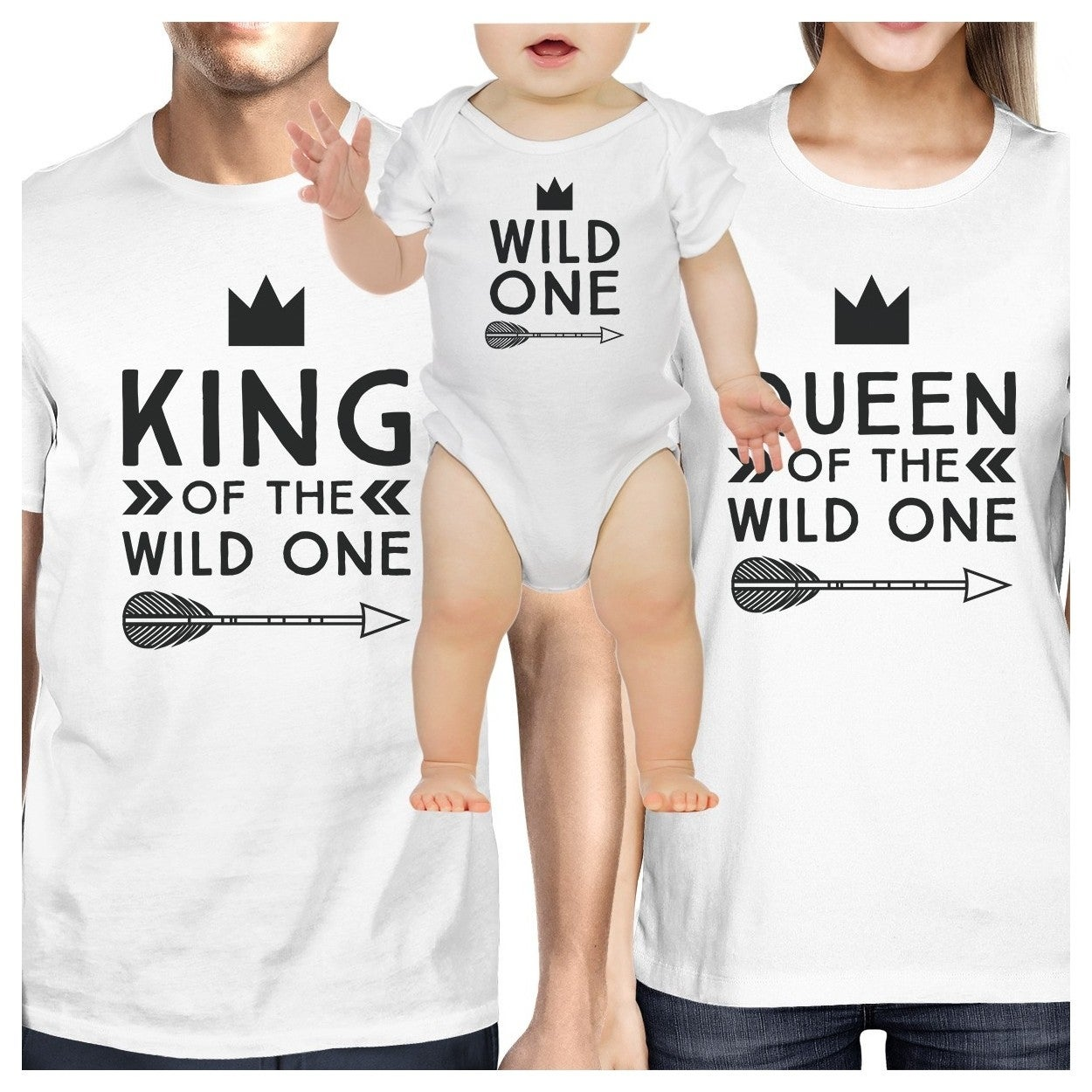 f6cb552bf Shop King Queen Wild One Feather Matching Family White Shirts New Parents  Gift - Free Shipping On Orders Over $45 - Overstock - 18002627