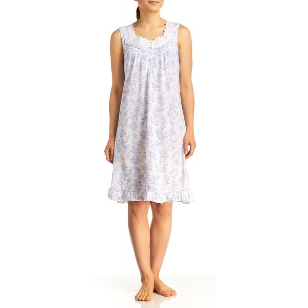 Body Touch Women's Eyelet Print Sleeeveless Nightgown