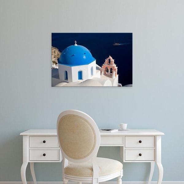 Easy Art Prints Darrell Gulin's 'Oia With Blue Domed Churches' Premium Canvas Art