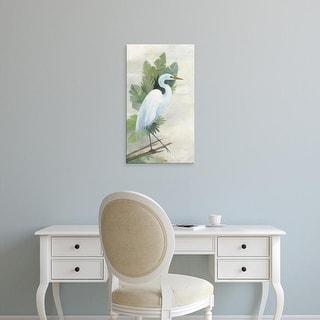 Easy Art Prints Avery Tillmon's 'Standing Egret I' Premium Canvas Art