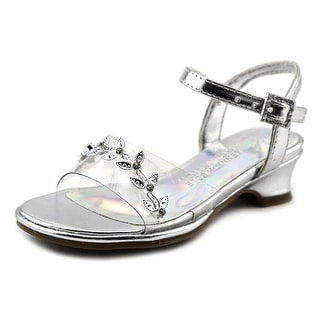 Kenneth Cole Reaction Cind-R-Ella Too PV Youth Open Toe Synthetic Silver Sandals