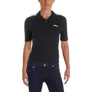 Fila Womens Crop Top Polo Short Sleeves