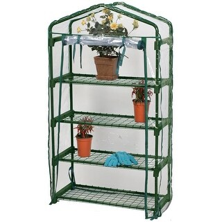 49 Outdoor Spring Bloom Heavy Duty Four Tier Greenhouse - CLEAR