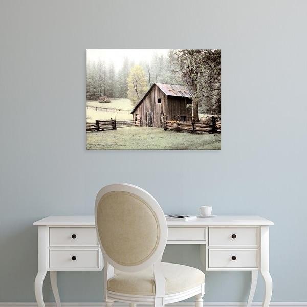 Easy Art Prints Laura Culver's 'Barn near Sonora' Premium Canvas Art