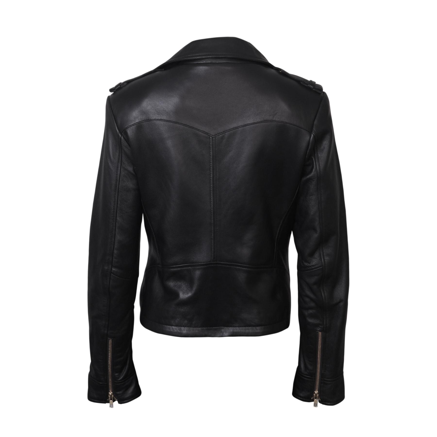 Womens Genuine Lambskin Motorcycle Real Leather Slim fit Coat//Jacket for Biker