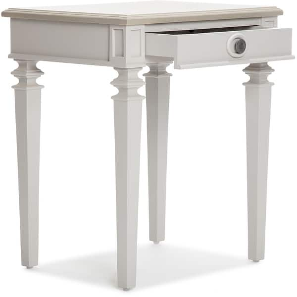 Finch Benson End Table Nightstand With Drawers Light Gray On Sale Overstock 31272693