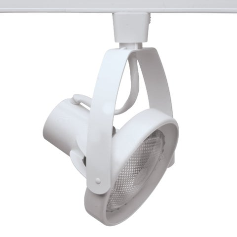 """Halo LZR1330 8"""" Tall Front Loading Gimbal Track Head for Halo and Lazer-by-Halo - Satin White - N/A"""