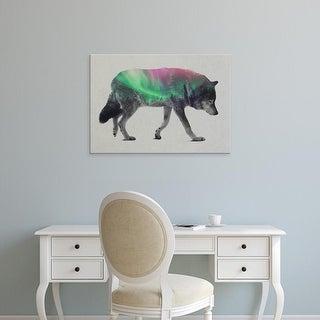 Easy Art Prints Andreas Lie's 'Wolf In The Aurora Borealis' Premium Canvas Art