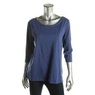 Tommy Hilfiger Womens Casual Top Scoop Neck 3/4 Sleevces