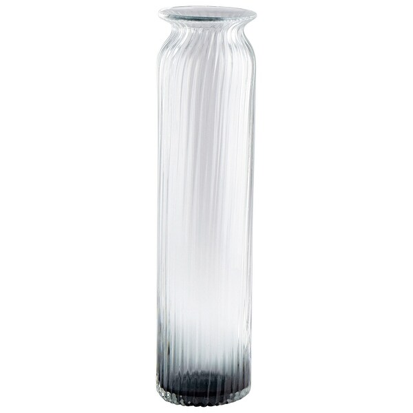 "Cyan Design 09173 Waterfall 4-3/4"" Diameter Glass Vase - Smoke"