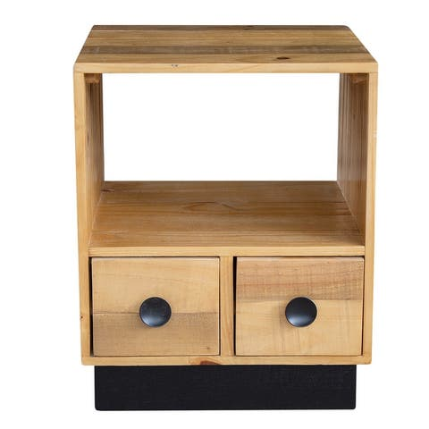 """Oslo 2-Drawer Lamp Table - 18""""L x 18""""W x 22""""H"""
